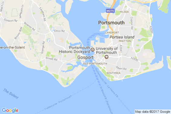 Gosport area map