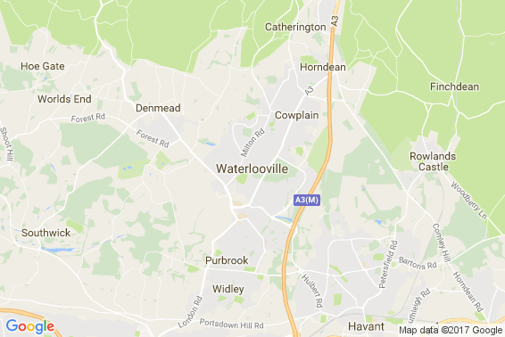 Waterlooville area map