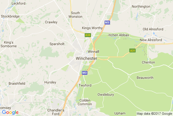 Winchester area map